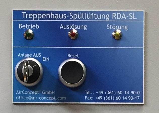 Treppenhaus-Spüllüftungs-Anlage