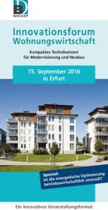 Innovationsforum Wohnungswirtschaft Erfurt